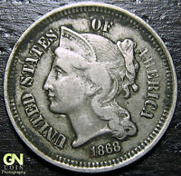 1868 3 CENT NICKEL PIECE  --  MAKE US AN OFFER  Y9028