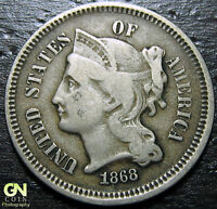 1868 3 CENT NICKEL PIECE  --  MAKE US AN OFFER  Y9031