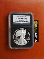 2006 W PROOF SILVER EAGLE NGC PF70 ULTRA CAMEO BLACK RETRO CORE SEE MY OTHERS