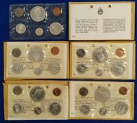 5 1965 CANADA 80  SILVER PROOF LIKE SETS IN ORIG. ENVELOPES