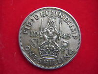 1945  GEORGE V1 SCOTTISH SHILLING FROM MY COLLECTION  [MM77]