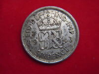 1943  GEORGE V1 SIXPENCE FROM MY COLLECTION  [MM74]