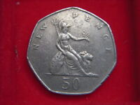 1980 NOW OBSOLETE LARGE FIFTY PENCE FROM MY COLLECTION  [MM80]