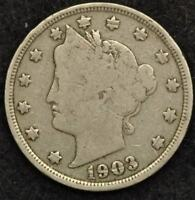 1903 V NICKEL LIBERTY 5 CENTS GREAT COLLECTIBLE COIN