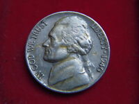 1940  FIVE CENT COIN FROM THE UNITED STATES