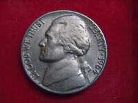 1964 SILVER  FIVE CENT COIN FROM THE UNITED STATES