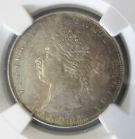 1871 CANADA    KEY DATE  VICTORIA 50 CENT FIFTY CENT HIGH GRADE NGC AU 53