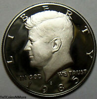 1985 S 50C KENNEDY HALF DOLLAR US 50 CENTS COIN CLAD GEM PROOF FROM PROOF SET