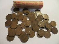 ROLL 50 PC 1940 COPPER PENNIES CANADIAN SMALL CENTS COINS CANADA PENNY GEORGE VI