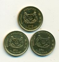 3 NICE 5 CENT COINS FROM SINGAPORE  2000 2005 & 2011