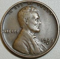 1929 S 1C LINCOLN CENT WHEAT PENNY LWC COPPER 9129