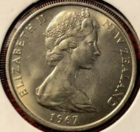 1967 NEW ZEALAND 5 CENTS COIN