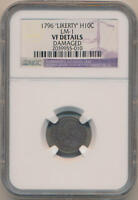 1796 LIKERTY HALF DIME. LM-1 NGC VF DETAILS. .