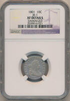 1801 DRAPED BUST DIME. JR-1. NGC EXTRA FINE  DETAILS