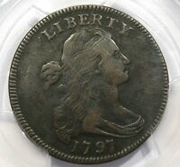 1797 DRAPED BUST LARGE CENT REV OF 97 PCGS VF25 S-136 STEMS
