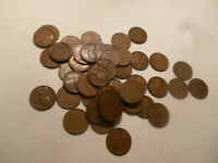 1940 D LINCOLN CENT PENNY ROLL CIRCULATED PENNIES 14 ROLLS, 700 QTY WHEAT COIN