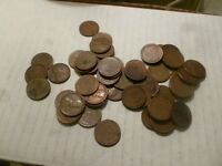 1948 P LINCOLN CENT PENNY ROLL 57 ROLLS CIRCULATED PENNIES COIN 2850 COINS WHEAT