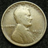 1913 LINCOLN WHEAT CENT PENNY G GOOD B04