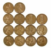 LOT OF 14 1931 P 1C LINCOLN WHEAT CENT PENNIES EXTRA FINE  EXTRA FINE / EXTRA FINE  128177