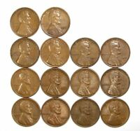 LOT OF 14 1931 P 1C LINCOLN WHEAT CENT PENNIES EXTRA FINE  EXTRA FINE / EXTRA FINE  128175