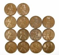 LOT OF 14 1931 P 1C LINCOLN WHEAT CENT PENNIES EXTRA FINE  EXTRA FINE / EXTRA FINE  128174