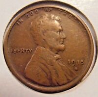 1915 S LINCOLN CENT, LOW MINTAGE COIN  15SX1