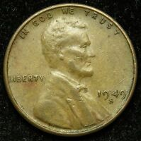 1949 S LINCOLN WHEAT CENT PENNY VF  FINE B05