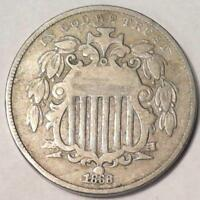 VINTAGE NICKEL COIN1868 SHIELD NICKEL 4079