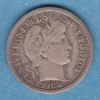1908 O BARBER DIME WITH LIBERTY