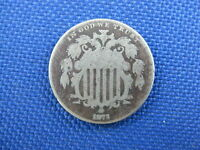 1873 U.S 5 CENT SHIELD NICKEL COIN