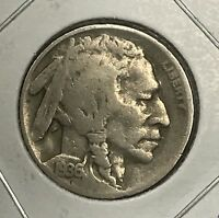 1936-D BUFFALO NICKEL.  COLLECTOR COIN FOR YOUR COLLECTION OR SET.1