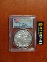 2011 W BURNISHED SILVER EAGLE PCGS MS70 FLAG FIRST STRIKE LABEL