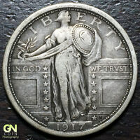 1917 P TYPE 1 STANDING LIBERTY QUARTER  --  MAKE US AN OFFER  Y8019