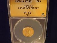 1955  ONE CENT        DDR                 ANACS   PF 65