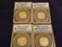 2009-S  QUARTERS 4 COIN SET   FIRST RELEASES      ANACS PR 70 DCAM