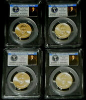 2014 P&D WARREN G. HARDING PRESIDENTIAL 4 COIN $1 SET PCGS MINT STATE 66 POSITION A&B