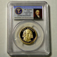 2007-S $1 JAMES MADISON PROOF PRESIDENTIAL DOLLAR PCGS PR70DCAM - SHIPS FREE