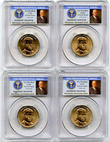 2014 P&D HERBERT HOOVER PRESIDENTIAL DOLLAR 4 COIN SET PCGS MINT STATE 65 POSITION A&B