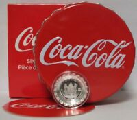 2018 COCA COLA COLLECTIBLE BOTTLE CAP SHAPED 6G .999 SILVER PROOF $1 COIN FIJI
