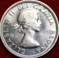 UNCIRCULATED 1953 SILVER CANADA $1 FOREIGN COIN