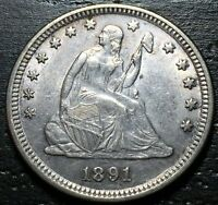 1891 P SEATED LIBERTY QUARTER  --  MAKE US AN OFFER  G4494