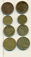 4 DIFFERENT COINS FROM SOUTH AFRICA   5 10 20 & 50 CENTS  ALL DATING 2008