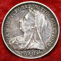 1898 GREAT BRITAIN 2 PENCE SILVER FOREIGN COIN