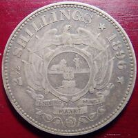 1896 SOUTH AFRICA SILVER 2  SHILLINGS