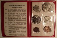 1971 ROYAL AUSTRALIAN MINT SET RED WALLET UNC