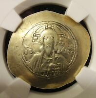 1071 1078 BYZANTINE EMPIRE GOLD ELECTRUM HISTAMENON NOMISMA MICHAEL VII NGC VF