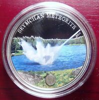 2012 METEORITE SEYMCHAN SILVER $5 COIN COOK ISLANDS WITH COA