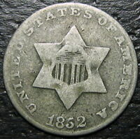 1852 3 CENT SILVER PIECE  --  MAKE US AN OFFER  R5399
