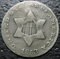 1853 3 CENT SILVER PIECE  --  MAKE US AN OFFER  R5273