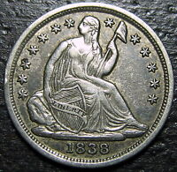 1838 P SEATED HALF DIME  --  MAKE US AN OFFER  R5227